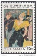 """739 Grenada 1976 """"Il Clown Cha-U-Kao Al Moulin Rouge"""" Quadro Dipinto Da Henri De Toulouse Lautrec Nuovo MNH Paintings - Arts"""
