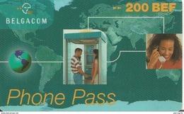 CARTEà-PREPAYEE-BELGE-200B EF-BELGACOM--01/01/1999-PHONEPASS-Plastic Fin -TBE-RARE - [2] Prepaid & Refill Cards