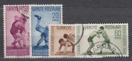 Turkey 1949 Sport Mi#1231-1234 Used - 1921-... République