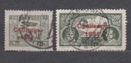 Poland 1934 Chalenge Overprint Airmails Mi#289-290 Used - 1919-1939 Republic