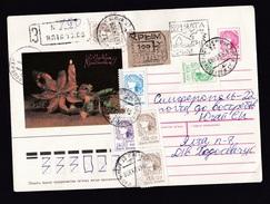 Ukraine - Crimea: Registered Stationery Cover, 1993, 6 Stamps, Provisional Overprint Label, Inflation (traces Of Use) - Oekraïne