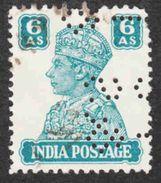 India - Scott #171 Used - Perfin - 1936-47 King George VI