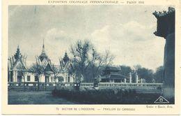 EXPOSITION COLONIALE INTERNATIONALE-PARIS 1931 - SECTION DE L'INDOCHINE-PAVILLON DU CAMBODGE. (scan Verso) - Mostre