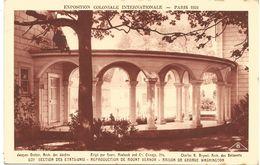 EXPOSITION COLONIALE INTERNATIONALE-PARIS 1931 - SECTION DES ETATS UNIS..MAISON DE GEORGES WASHINGTON. (scan Verso) - Mostre
