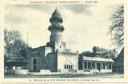 EXPOSITION COLONIALE INTERNATIONALE-PARIS 1931  -  PAVILLON DE LA COTE FRANCAISE DES SOMALIS. (scan Verso) - Mostre