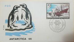 L) 1966 BELGIUM, ANTARCTIC EXPEDITIONS, PENGUINS, BOAT, FDC - FDC