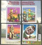 Sc # 2335a-d Roadside Attractions #1, Souvinier Sheet Singles Set Used 2009 K300 - 1952-.... Règne D'Elizabeth II