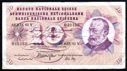 459-Suisse Billet De 10 Francs 1974 Série 93V - Switzerland