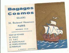 Calendrier 1954 Bagages Cosmos Selliers BD Haussmann Paris Gréement Dorure à L'ancienne - Kalenders