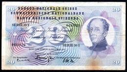 459-Suisse Billet De 20 Francs 1961 Série 30I - Switzerland