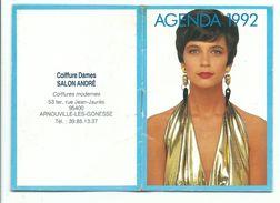 Agenda De Coiffure Calendrier 1992 8 Page Photo Femme Et Couple - Tamaño Pequeño : 1991-00