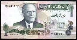 347-Tunisie Billet De 1 Dinar 1973 BR1 - Tunisia