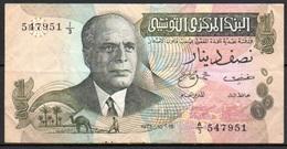 329-Tunisie Billet De 1/2 Dinar 1973 A3 - Tunisia