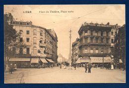Liège. Place Du Théâtre, Place Verte. Central Hôtel-Restaurant. Au Camelia, Spécialité De Deuil. 1912 - Liege
