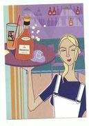 CPM Alcool Cognac Hennessy - Illustrateur Plateau Serveuse - Cool Card - Non Datée - Publicité