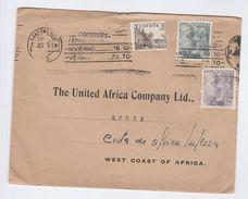 1961 SPAIN Via SIERRA LEONE To GHANA African & Eastern Ltd Las Palmas To United Africa Co , Stamps Cover - Sierra Leone (1961-...)