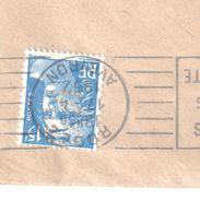 4350 RODEZ Aveyron Lettre Entête Caisse Nationale Escompte 15 F Gandon Bleu Yv 886 Perforé 13/19 H 9,75/10 CN289 Ou 286 - France