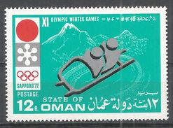State Of Oman 1972. #S (MNH) Winter Olympic Games Sapporo, Bobsled - Oman