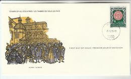 1978 AUSTRIA GRAZ 850th Heraldic Lion FDC Special Cover By International Postmasters Society , Stamps - FDC