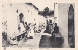 Blida Algeria, Arab Street Scene, Homes, C1930s Vintage Postcard - Blida
