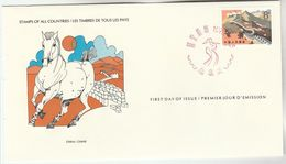 1979 CHINA GREAT WALL FDC Special Cover By International Postmasters Society, Stamps , Horse - 1980-89