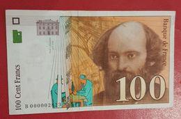 100 Francs Cezanne 1997 - Billet Correct Mais Ayant Circulé - 1992-2000 Dernière Gamme