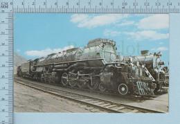 Train Transport - X-4012 Et 3713 Big Boy  Steamtown USA Bellows Falls Vermont,  + Description - - Etats-Unis
