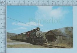 Train Transport - Baldwin 2-8-0 #15 Passes Bartonville , Covered Bridge, Vermontt + Description - - Treinen