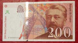 200 Francs Eiffel Propre Mais Ayant Circulé 1995 - 1992-2000 Dernière Gamme