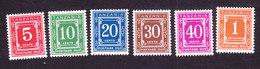 Tanzania, Scott #J1-J6, Mint Hinged, Postage Due, Issued 1978 - Tanzania (1964-...)