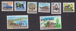 Tanzania, Scott #O1-O8, Mint Hinged, Scenes Of Tanzania Overprinted, Issued 1965 - Tanzanie (1964-...)