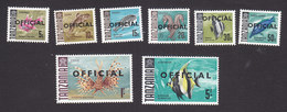 Tanzania, Scott #O9-O16, Mint Hinged, Sea Life Overprinted, Issued 1967 - Tanzania (1964-...)
