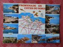 Dep 22 , Cpm  Promenade En COTE DU NORD , Multivues Géographique , C 22.999.00.0.0037 (12.225) - Ohne Zuordnung