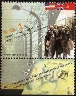 Israel 1995 End Of World War II Values 1 Value MNH Concentration Camp, Fence; Internees; Holocaust - 2. Weltkrieg