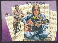 Tanzania, Scott #1336-1337, Mint Never Hinged, The Beatles, Issued 1995 - Tanzania (1964-...)