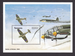 Tanzania, Scott #1352-1353, Mint Never Hinged, 50th Anniversary Of End Of WW II, Issued 1995 - Tanzania (1964-...)