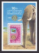 Tanzania, Scott #1347, Mint Never Hinged, 90th Ann. Of Rotary Club, Issued 1995 - Tanzania (1964-...)
