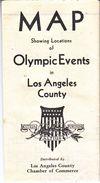 U.S.  OLYMPIC  MAP - Summer 1932: Los Angeles