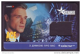 "UKRAINE. KYIVSTAR GSM ""ACE & BASE"" SIM CARD. ""ACE"" Frame Without Chip. Nr. 3 - Oekraïne"