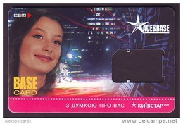 "UKRAINE. KYIVSTAR GSM ""ACE & BASE"" SIM CARD. ""BASE"" Frame Without Chip. Nr. 3 - Oekraïne"