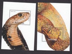 Tanzania, Scott #1355-1356, Mint Hinged/Never Hinged, Reptiles, Issued 1995 - Tanzanie (1964-...)