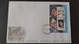 Papua New Guinea 2002 Queen Mother Miniature Sheet FDC - Papua New Guinea