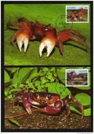 Taiwan (Formosa)- Maximum Card – Taiwanese Crabs (4V) 2010 - Crostacei