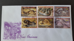 Papua New Guinea 2006 Snakes FDC - Papua New Guinea