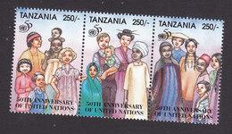 Tanzania, Scott #1357, Mint Never Hinged, 50th Anniversary Of UN, Issued 1995 - Tanzania (1964-...)