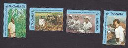Tanzania, Scott #1367-1371, Mint Hinged, 50th Anniversary Of UN, Issued 1995 - Tanzania (1964-...)