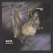 Tanzania, Scott #1403, Mint Never Hinged, Bat, Issued 1995 - Tanzania (1964-...)