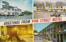 South Carolina Spartanburg Greetings From Pine Street Motel - Spartanburg