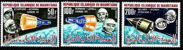 Mauritania 1966 Manned Space Exploration Satellite Sciences Voshod & Gemini Stamps MNH Mi 270-272 Yv PA.51-53 Sc C48-50 - Mauritania (1960-...)