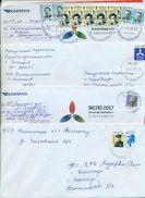 Kazakhstan.Four Envelopes Past The Mail. Two Envelopes Registered. - Kazakhstan